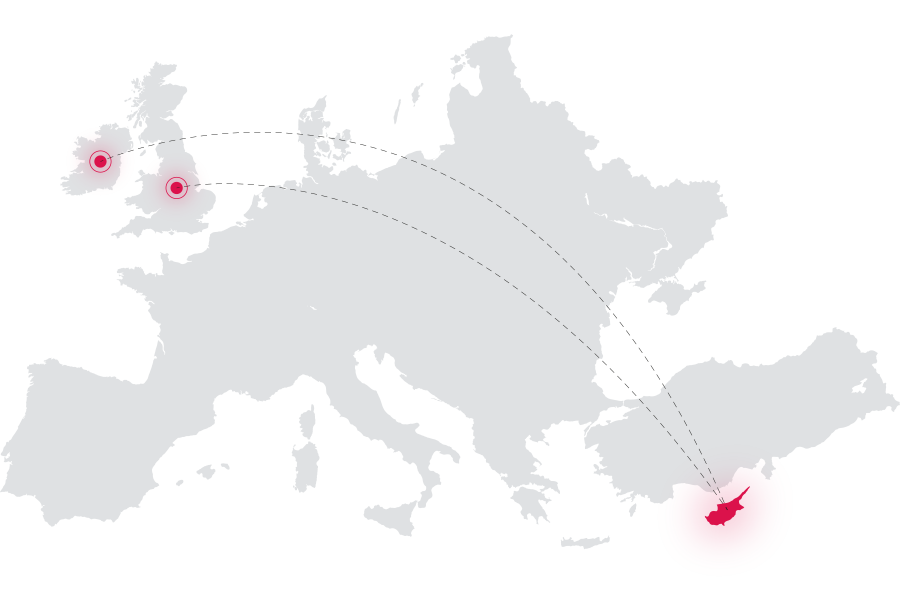 Map pointing the countries where DMA provides its services